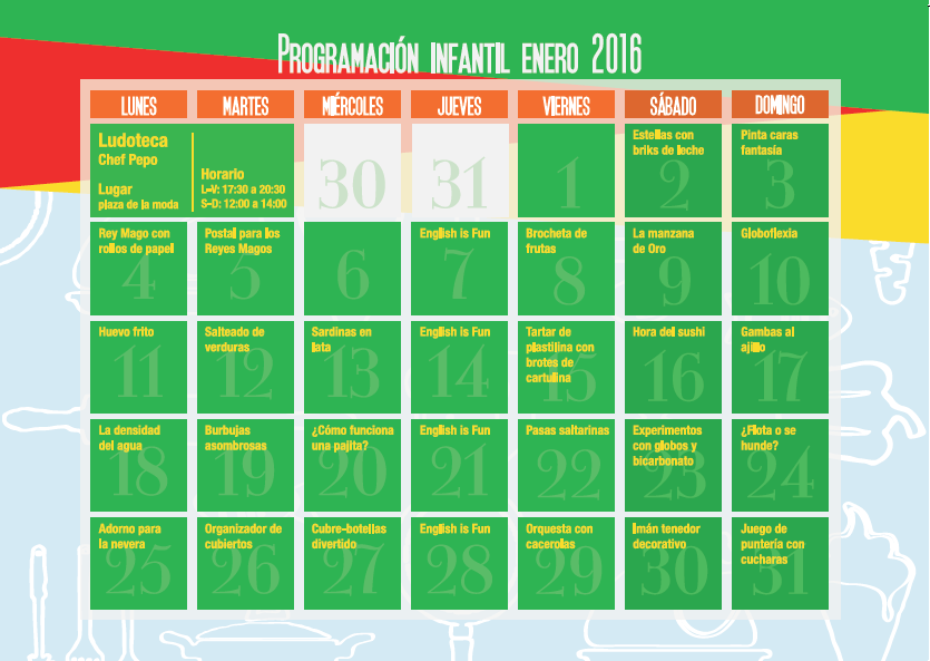 Calendario Ludoteca Enero