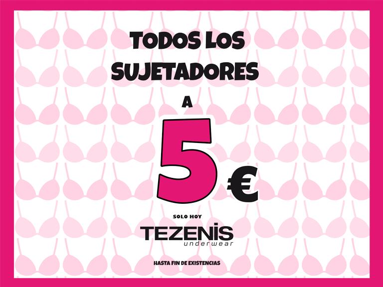 Todos los sujetadores a 5€ en Tezenis