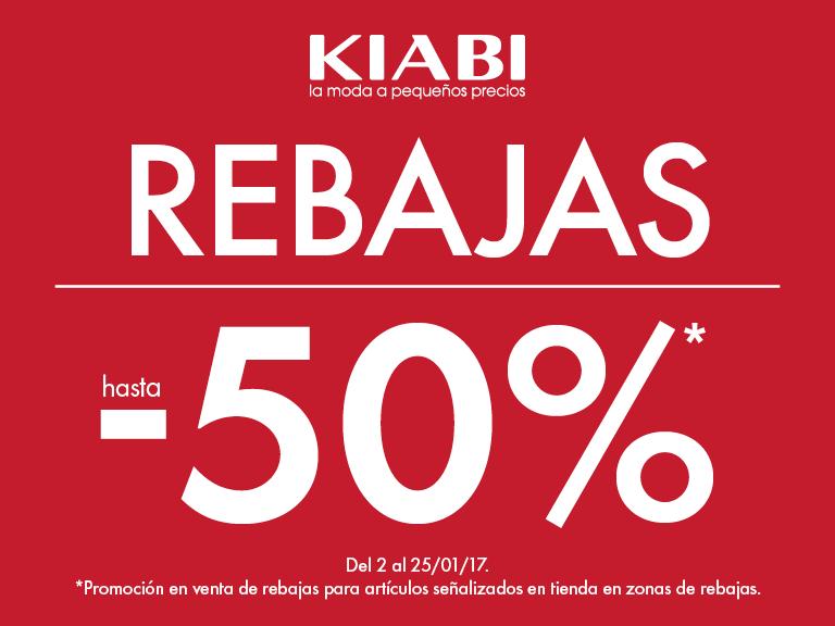 Rebajas hasta 50% de descuento en Kiabi