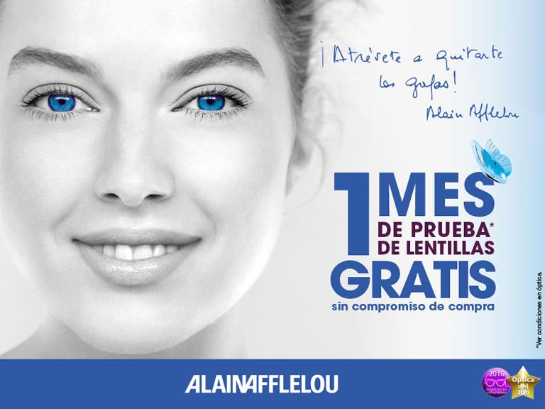 Un mes de prueba de lentillas gratis en Alain Afflelou