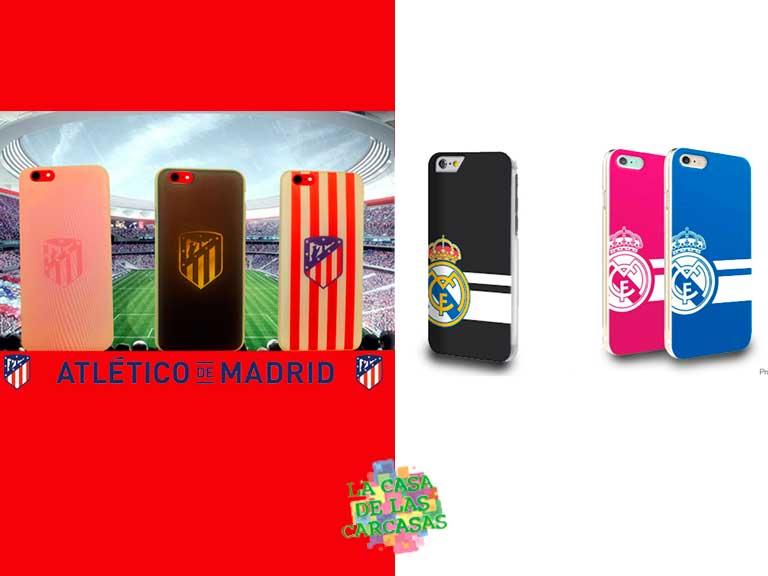 Carcasas oficiales del Atlético de Madrid y del Real Madrid