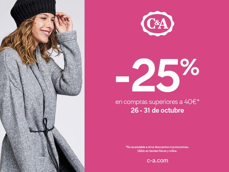-25% en compras superiores a 40€