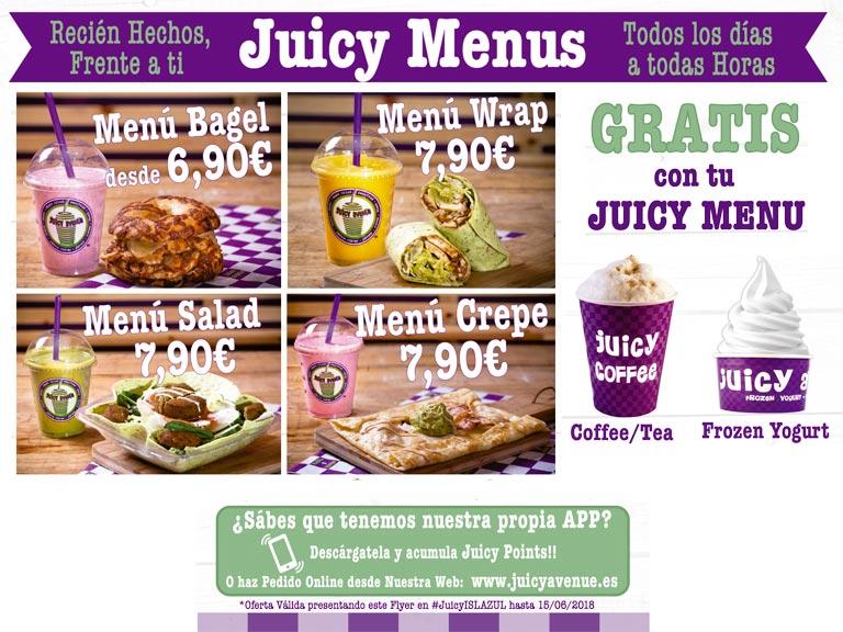 Juicy menus