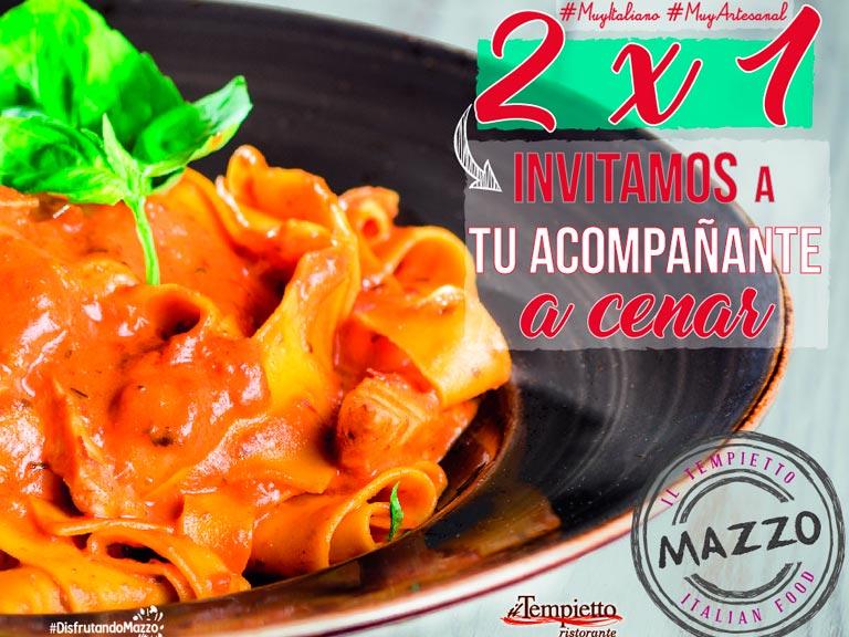 2 x 1 en Mazzo