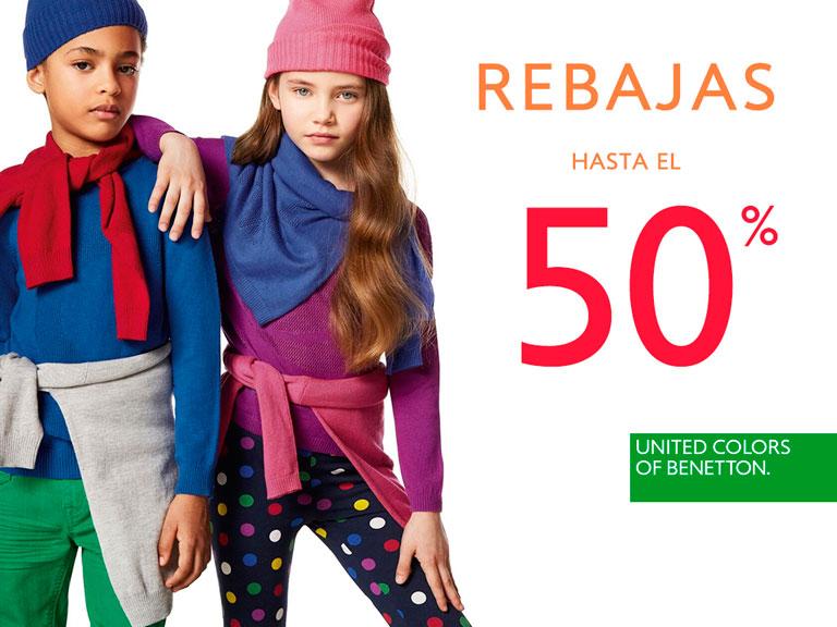 Hasta – 50% de descuento en toda la colección Otoño/Invierno 2017 en United Colors of Benetton