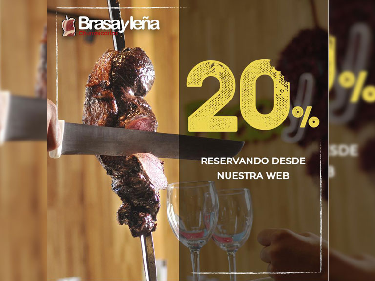 20% de descuento en Brasa y Leña