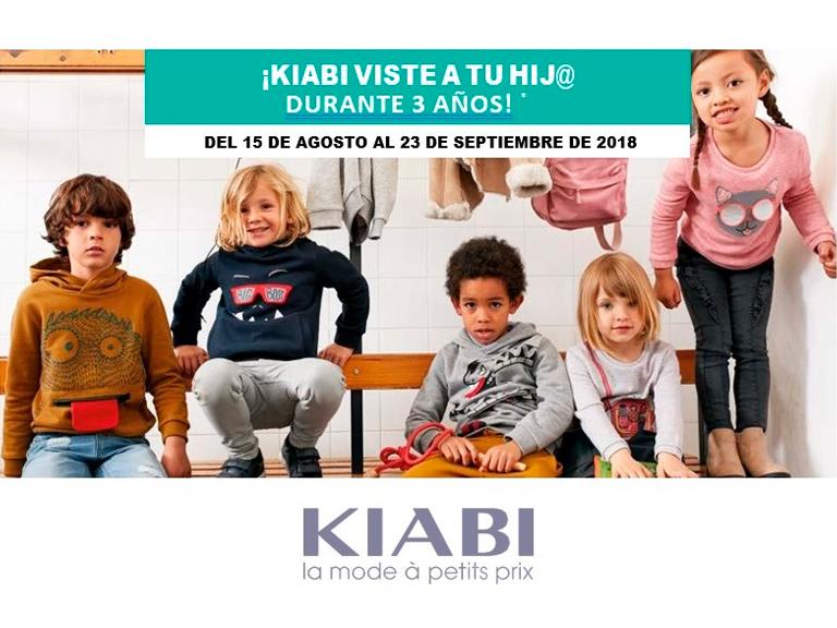 Kiabi viste a tu hijo durante 3 años